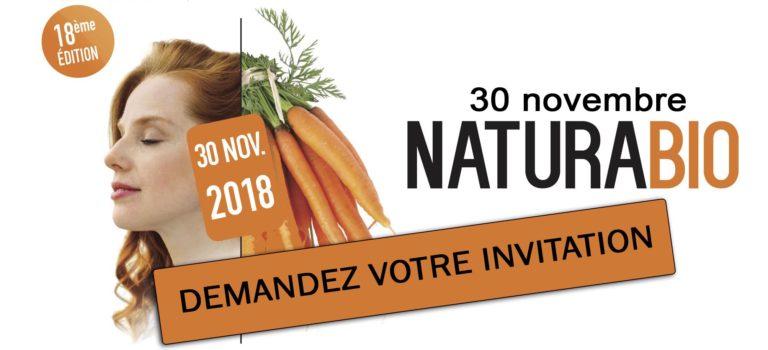 Demandez votre entrée gratuite pour la salon NaturaBio