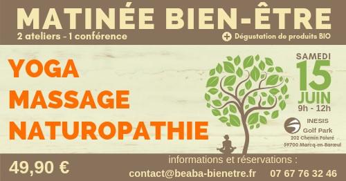 Matinée bien-être: Yoga, Massage et Naturopathie