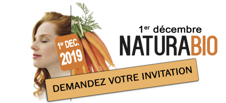 Invitation au salon naturabio : votre entrée gratuite